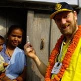 Phil taking malaria and polio medication to Africa