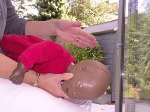 choking baby back blows