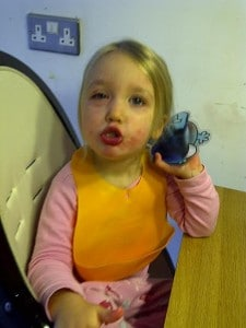 Child having an allergic reaction