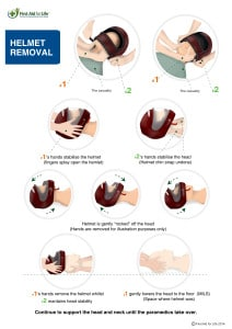 helmet removal First Aid for Life when and how to remove a motorcycle helmet