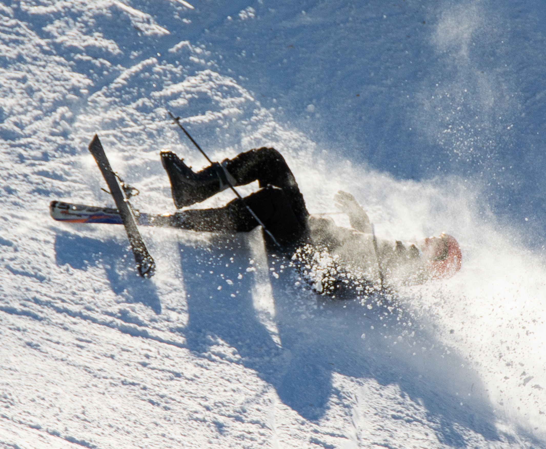 Skier fell during the descent
