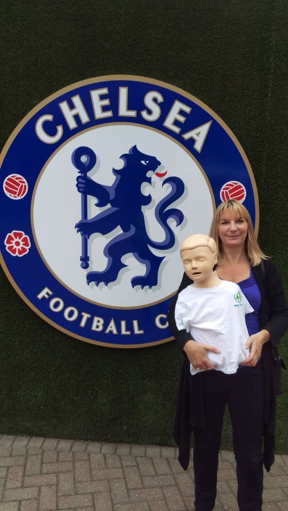 First Aid for Life training at Stamford Bridge