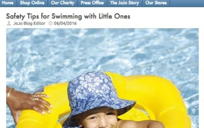 Jo Jo Maman Bebe – Safety Tips for Swimming with Little Ones