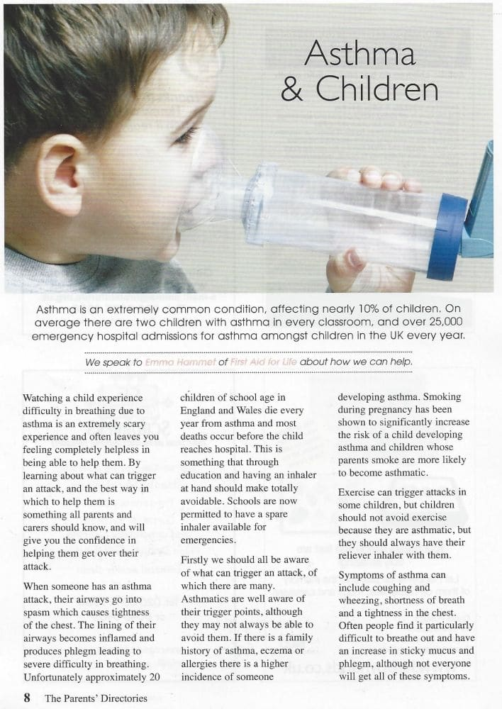 The Parents Directory Asthma Amp Children First Aid For Life