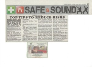 South london press top tips to reduce risks