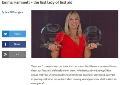 Hot Courses: First Lady of First Aid