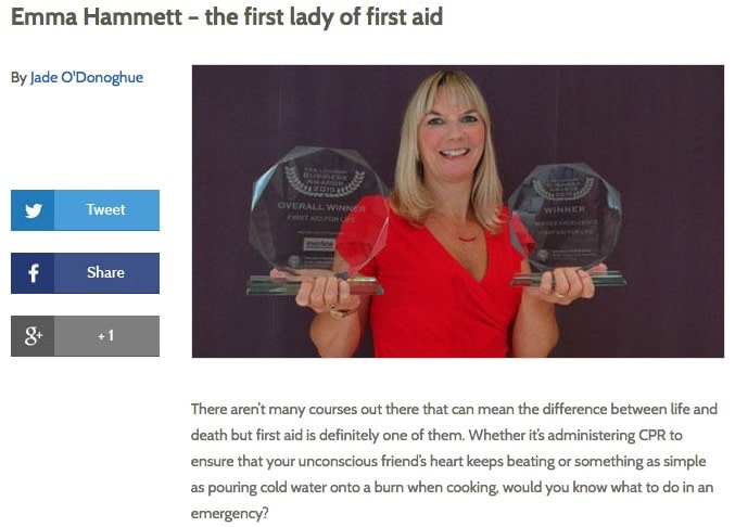 HC First Lady of First Aid - feature