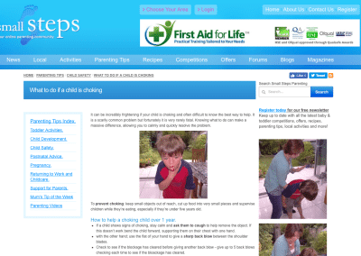 Small Steps – What to do if a child is choking