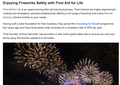 British Library: Enjoying Fireworks Safely with First Aid for Life
