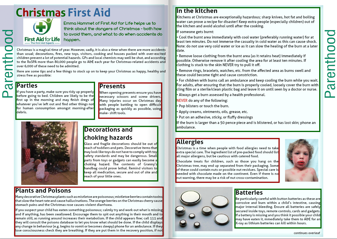 NCT Special Delivery Magazine Autumn 2016 - Christmas First Aid