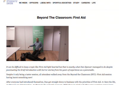 LSE Student's Union – Beyond the Classroom: First Aid