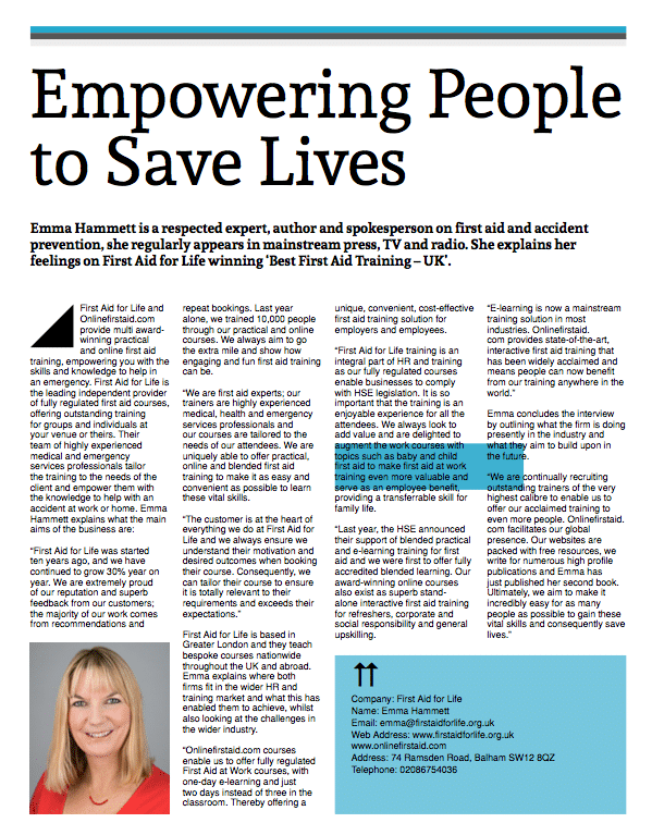 CV Magazine - Empowering people to save lives