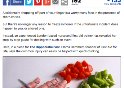 Mail Online: Accidentally chopped off your finger