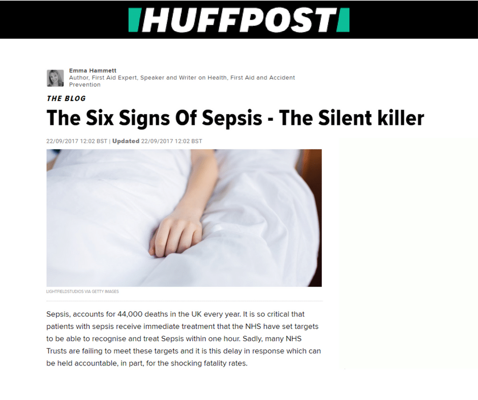 Huffington Post: The Six Signs Of Sepsis – The Silent killer