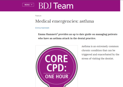 British Dental Journal – Medical emergencies: asthma