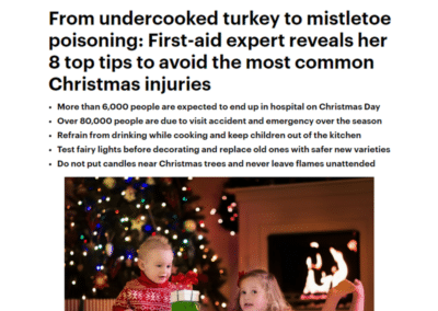 Daily Mail – 8 top tips to avoid common Christmas injuries