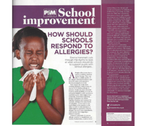 Primary School Management – How should schools respond to allergies