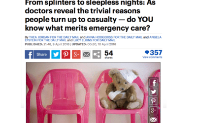 Mail Online – Trivial Reasons for Turning Up at Casualty