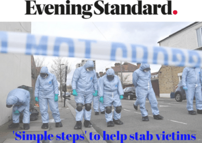 Evening Standard – First aid worker reveals how to help victims of knife and gun crime as London death toll soars