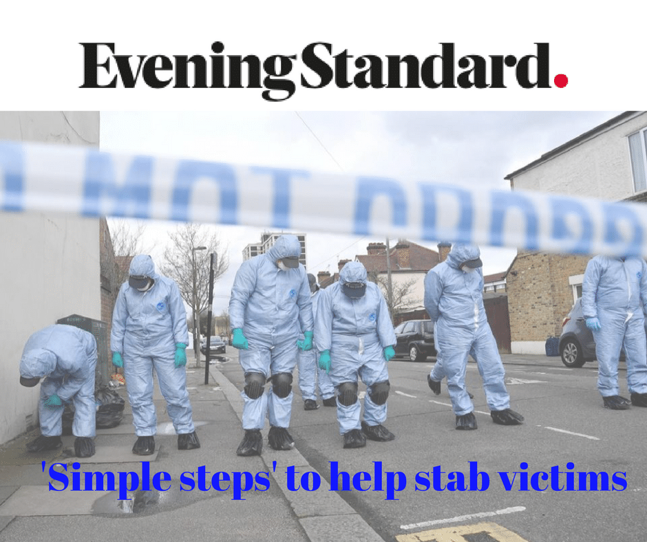 stabbing, shooting, major bleed, first aid, how to help, emergency