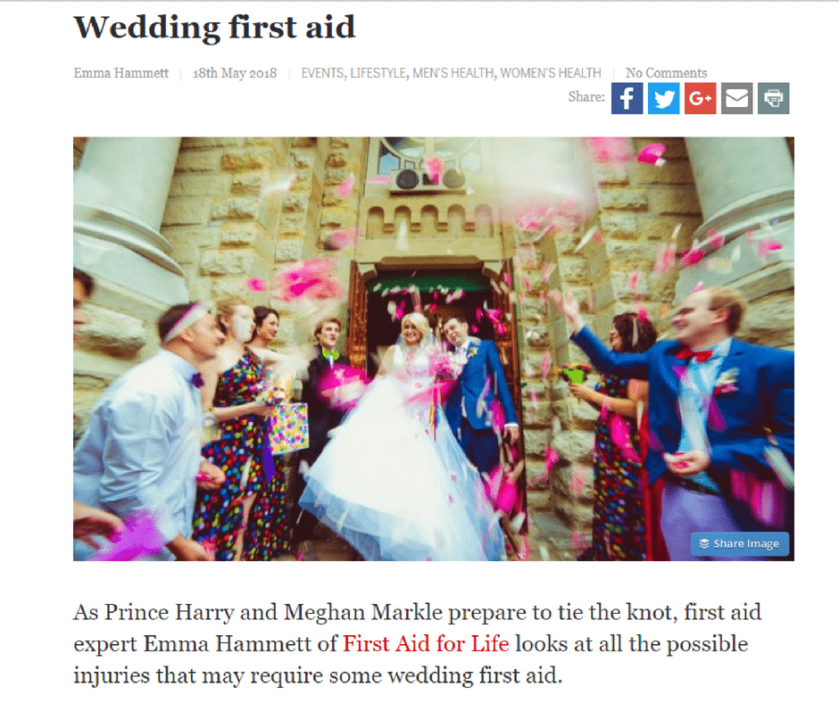The Hippocratic Post – Wedding First Aid