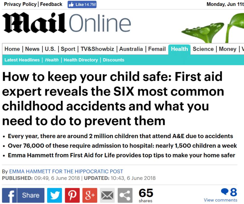 Mail Online – Six Most Common Childhood Actions