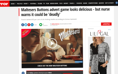 The Mirror – Choking Hazards of Maltesers' Advertising Game