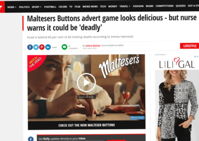 The Mirror – Maltesers Buttons advert game looks delicious – but nurse warns it could be 'deadly'.