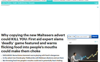 Mail Online – Risks of Game Played in Maltesers Advert
