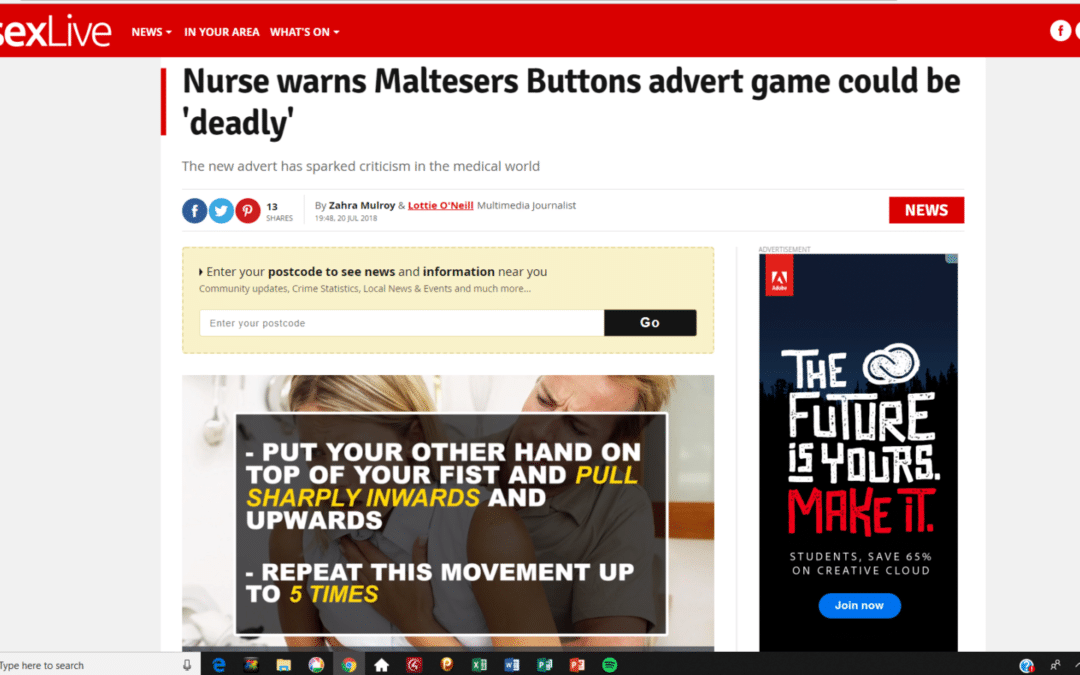 Essex Live – Maltesers Potential as a Choking Hazard
