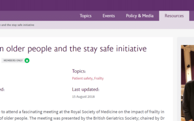 British Geriatrics Society – Stay Safe