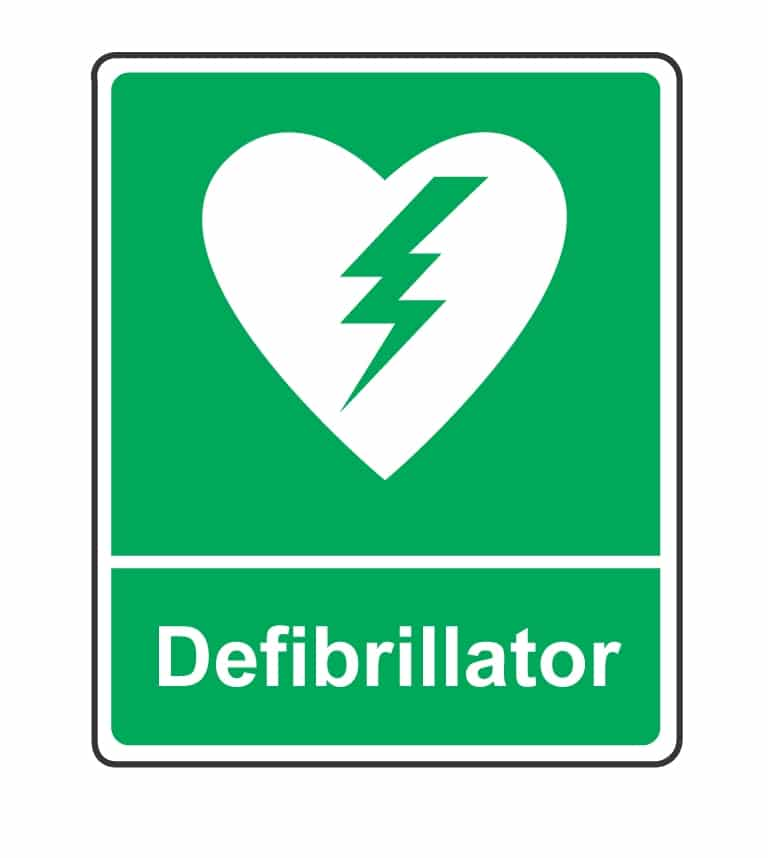 Aed Sign First Aid For Life