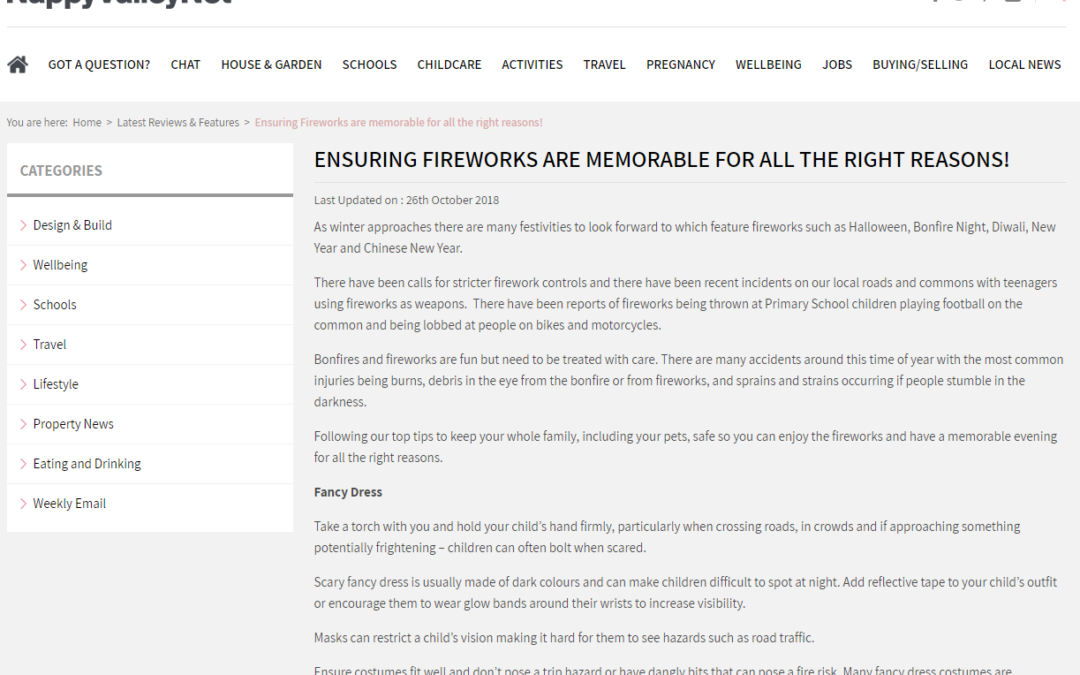 NappyValleyNet – Firework Safety