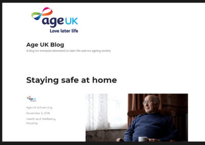 Age UK Blog – Staying Safe at Home