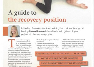 British Dental Journal – The Recovery Position