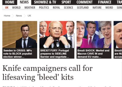 Knife campaigners call for lifesaving 'bleed' kits