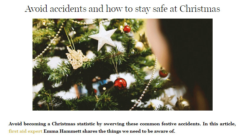 BritMums – Avoid accidents and how to stay safe at Christmas