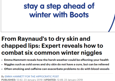 Mail Online From Raynaud's to dry skin and chapped lips