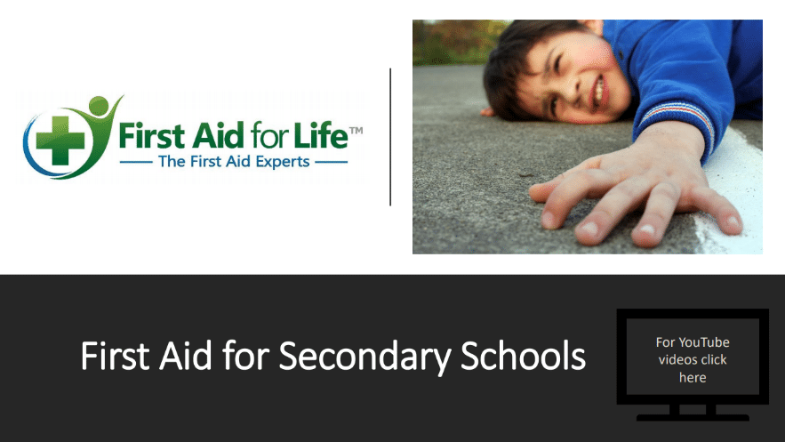 Free teaching resources to teach first aid in school