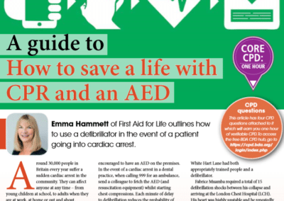 British Dental Journal: How to save a life with CPR and an AED