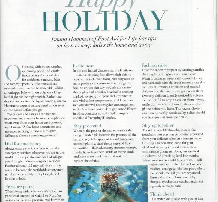 Baby&Me Magazine – Keeping Kids Safe on Holiday