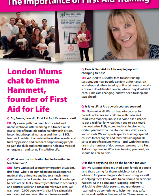 Monica Costa interviews Emma Hammett for London Mums