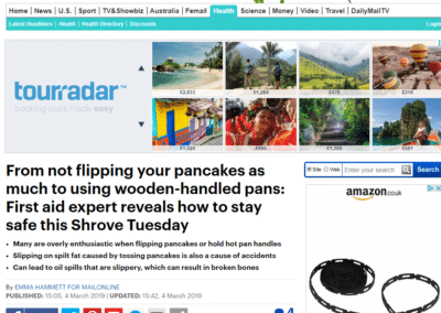 Mailonline: How To Stay Safe This Shrove Tuesday