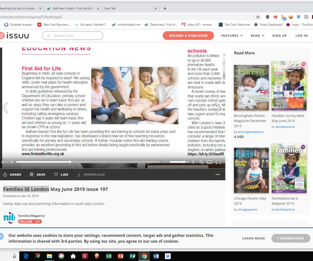 Families SE London – First Aid Legislation
