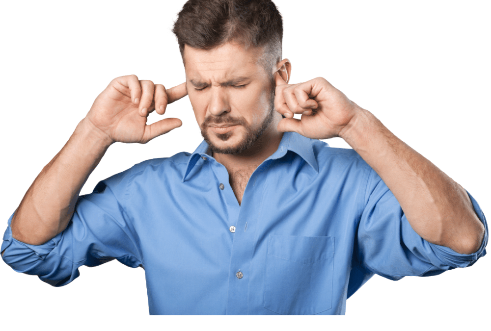hearing loss prevention hands in ears