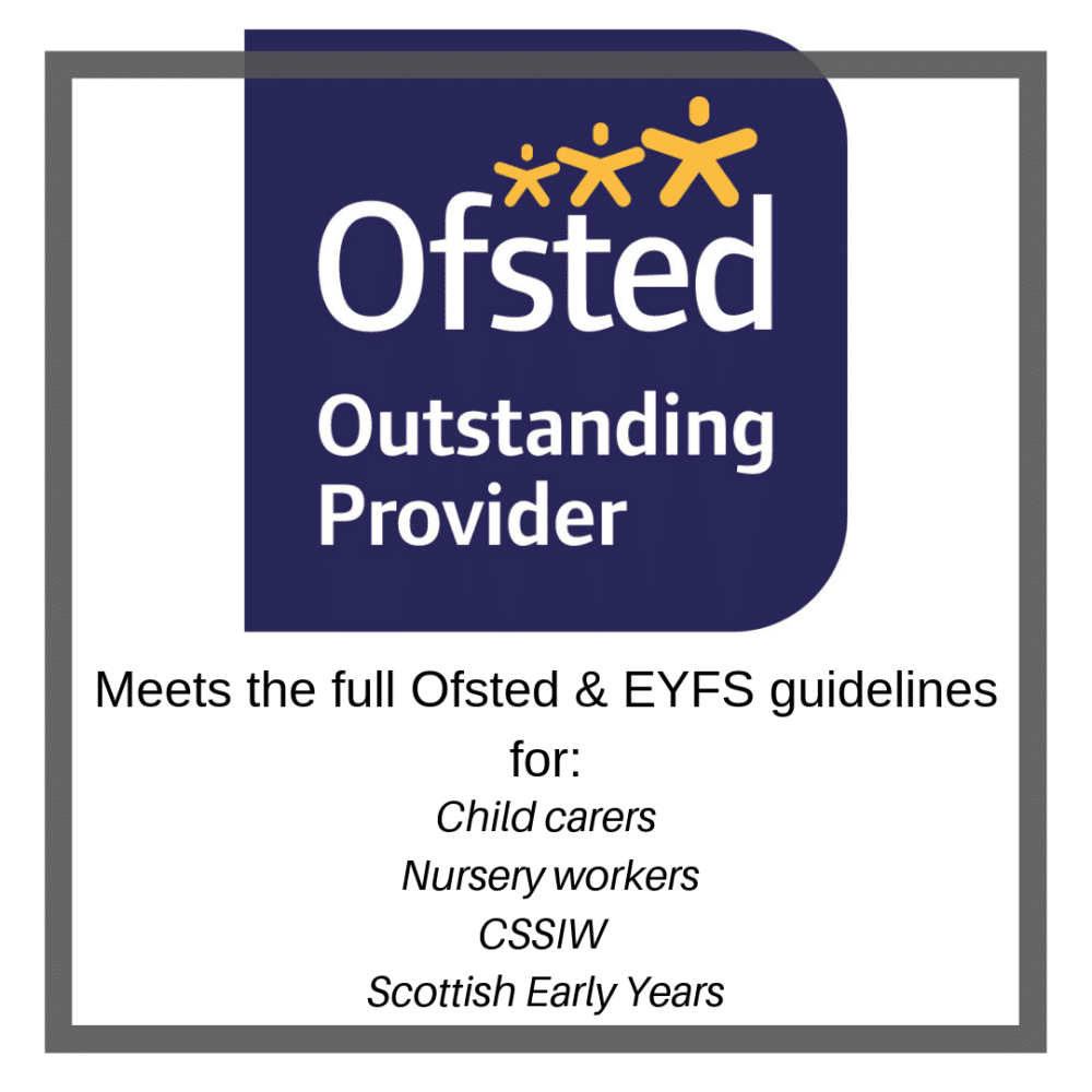 Paediatric First Aid covering the full Ofsted syllabus