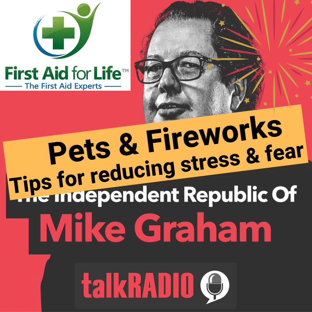 talkradio pets fireworks mike graham emma hammett radio in the press media expert first aid