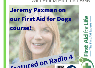 BBC Radio 4 – Jeremy Paxman on our First Aid for Dogs Course
