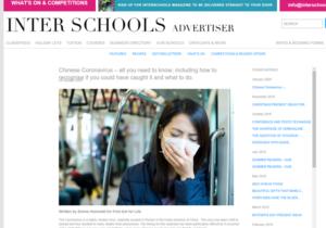 interschools coronavirus article