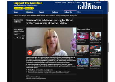 The Guardian – Caring for someone with Coronvirus